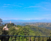 Uitzicht vanaf balkon-terras Monte