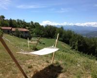 uitzicht van hangmatten naar casa